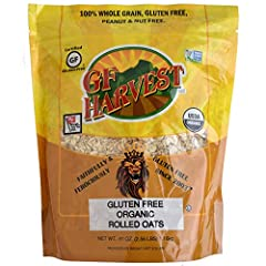 Contains (1) 41 oz. bag of Gluten Free Organic Rolled Oats. Organic, whole grain, Gluten Free rolled oats. 100% whole grain, natural oats. Certified Organic by OneCert. Certified Non-GMO. Kosher certified. GF Harvest oat products are safe for those w...