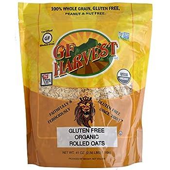 GF Harvest Gluten Free Certified Organic Rolled Oats Non GMO 41 oz Bag
