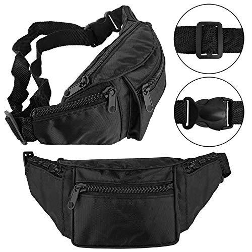 Bahob® Riñonera con 4 bolsillos con cremallera para perros, viajes, senderismo, deportes...