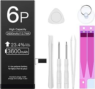 ZMNT iPhone 6 Plus 専用 交換用 バッテリー 大容量 3600mAh 3.82V PSE認証品 — 2年保証付工具付