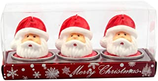 Gijoki 3Pcs Delicate Christmas Candles Santa Claus House Snowman Party Table Decor Candles