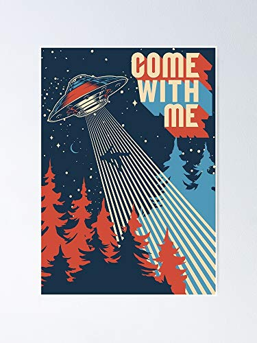 AZSTEEL Come with Me Go to The Moon Poster