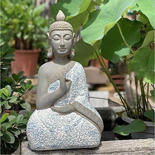 Robe Buddha Decoration Zen Ornament Sitting Statue Meditating in Stunning Finish - Large-54 * 30 * 20cm, Home Decoration