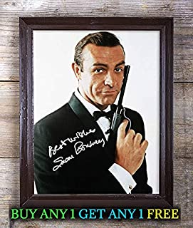 Sean Connery James Bond Autographed Signed Reprint 8x10 Photo #85 Special Unique Gifts Ideas for Him Her Best Friends Birthday Christmas Xmas Valentines Anniversary Fathers Mothers Day