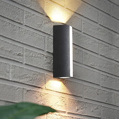 Lámpara de pared de pared de banda para la pared de la pared al aire libre, luz cuadrada de la pared de la pared de aluminio negro, usado para la capacidad de protección de la terraza IP65