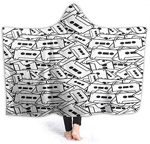 Cinta de casete Impresión 3D Sudadera con capucha para vestir Manta de...