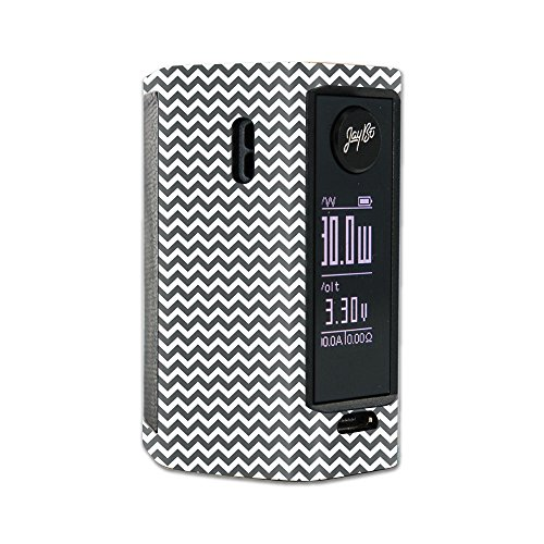 MightySkins Skin Compatible with Wismec Reuleaux RX Mini – Gray Chevron | Protective, Durable, and Unique Vinyl Decal wrap Cover | Easy to Apply, Remove, and Change Styles | Made in The USA