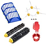 Neutop Replacement Parts Replenishment Kit for iRobot Roomba 675 677 671 670 665 655 645 694 692 Robot Vacuum Accessories Including Flexible Beater and Bristle Brush Filter Side Brush Cleaning Tool.