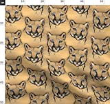 Wildkatze, Holz, Zoo, Puma, Katze Stoffe - Individuell