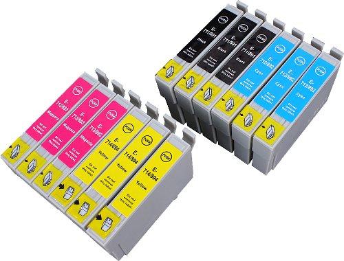 12 Multipack de alta capacidad Epson T0715 , T0895 Cartuchos Compatibles 3 negro, 3 ciano, 3 magenta, 3 amarillo para Epson Stylus D120, Stylus D78, Stylus D92, Stylus DX4000, Stylus DX4050, Stylus DX4400, Stylus DX4450, Stylus DX5000, Stylus DX5050, Stylus DX6000, Stylus DX6050, Stylus DX7000F, Stylus DX7400, Stylus DX7450, Stylus DX8400, Stylus DX8450, Stylus DX9400F, Stylus Office B40W, Stylus Office BX300F, Stylus Office BX310FN, Stylus Office BX600FW, Stylus Office BX610FW, Stylus S20, Stylus S21, Stylus SX100, Stylus SX105, Stylus SX110, Stylus SX115, Stylus SX200, Stylus SX205, Stylus SX210, Stylus SX215, Stylus SX218, Stylus SX400, Stylus SX405, Stylus SX405WiFi, Stylus SX410, Stylus SX415, Stylus SX510W, Stylus SX515W, Stylus SX600FW, Stylus SX610FW. Cartucho de tinta . T0711 , T0712 , T0713 , T0714 , T0891 , T0892 , T0893 , T0894 , TO711 , TO712 , TO713 , TO714 , TO891 , TO892 , TO893 , TO894  123 Cartucho