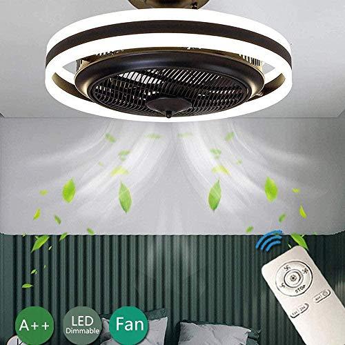 Led-Deckenventilatoren Mit Lichtventilator Unsichtbar Deckenleuchte Creative Remote Dimmable Ultra Quiet Fan Can Timing Kronleuchter Modernes Wohnzimmer Schlafzimmer Kinder Deckenleuchte / Φ60Cm / 6