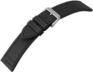Canvas para banda reloj de pulsera banda material Mix textil piel 20mm 25950s