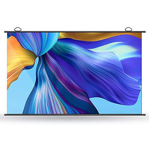 GYX-Décoration Pantalla de Proyección, Proyector Portátil Plegable, Gran Angular de 178 °, Relación 4: 3/16: 9, Utilizado para Entretenimiento de Cine en Casa