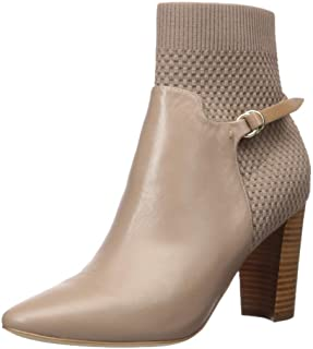 Cole Haan Women's Camille Bootie (85mm) Ankle Boot, Stone Taupe Leather, 8.5 B US