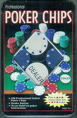 Equilibre et Aventure Jeu de Poker - Boite métal de 100 jetons Classics + jeton Dealer
