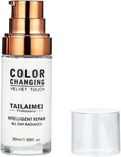 Liquid Foundation,Flawless Colour Changing Foundation Makeup Base Nude Face Liquid Cover Concealer 30ML By lotus.flower (30ml)