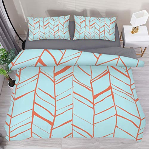 EVANLinism Arrow Pattern Duvet Cover Set Queen Size Kids Bedding Sets Comforter Cover with Soft Lightweight Microfiber 1 Duvet Cover and 2 Pillowcase