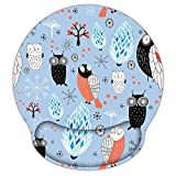 HILUCKI Mouse Pad Ergonomic Mouse Mat with Wrist Support Rest Memory Foam Computer Mouse Pad with Nonslip Rubber Base for Home, Office, Laptop, Gaming (MB-043)