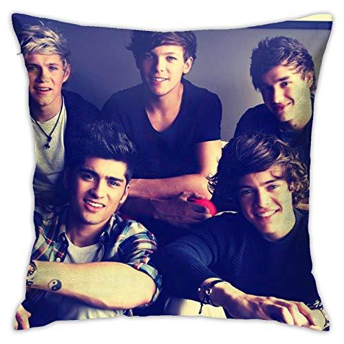 maichengxuan Music One Direction - Funda de almohada de microfibra de poliéster súper suave de 45,7 x 45,7 cm, para sofá cama, funda de almohada decorativa cuadrada
