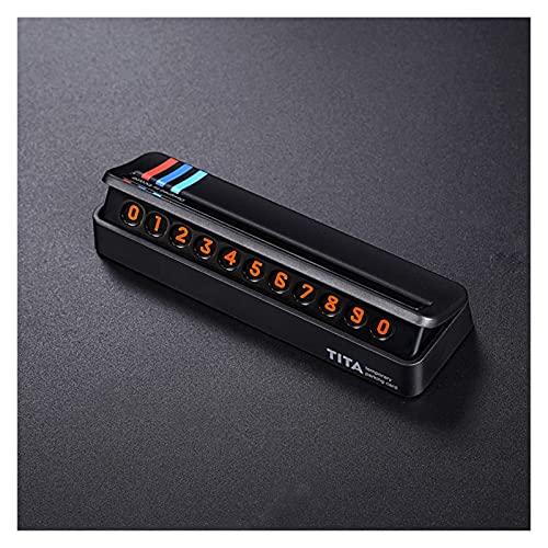 LIFMAGIC 주차장 카드 정지 신호를 전화 번호 카드 판 숨겨진 디자인에 맞는 BMW123457 시리즈 X1X3X4X5X6F15F16F30F34F48(이름의 색상:검정)