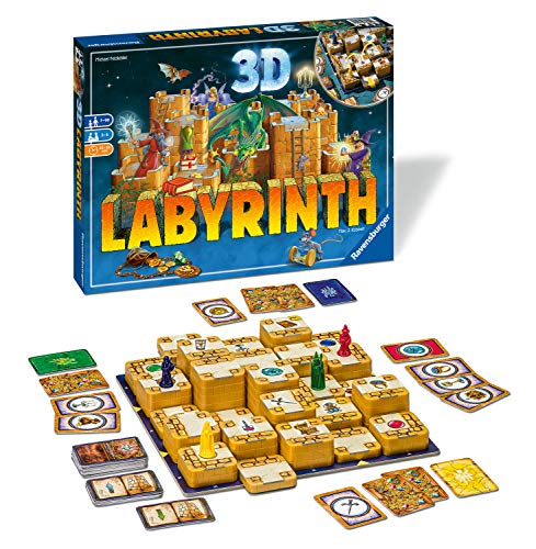 family board games Ravensburger 3D Labyrinth Family Board Game for Kids & Adults Age 7 & Up - So Easy to Learn & Play with Great Replay Value Amazon Exclusive (26831)