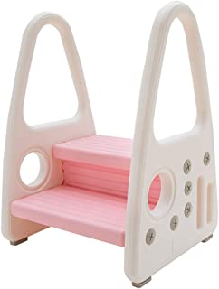KATARUS Toddler Step Stool for Kids Two Step Standing Tower for Kitchen Counter, Bathroom Sink & Toilet Potty Training, Ch...