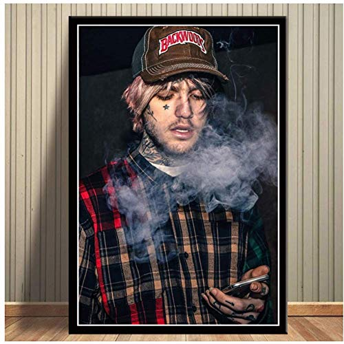 A&D Hot Lil Peep RIP Rapper Musik Sänger Star Poster Und Drucke Wandkunst Leinwand Malerei Wandbilder Für Wohnzimmer Wohnkultur-40x60cmx1 stücke-Kein Rahmen
