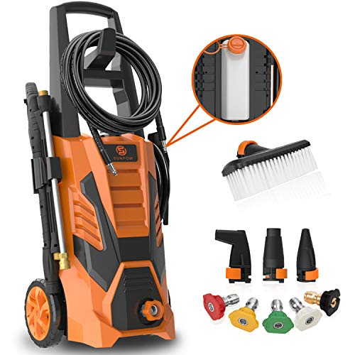 SUNPOW Pressure Washer 3000 Max PSI 2.4 GPM Electric High Power Washer Machine Cleaner with 8...