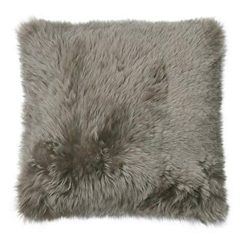 Merino Lamsvel kussen korte wol camel 40 x 40 cm + donskussen echt schapenvacht sierkussen decoratief kussen sofakussen