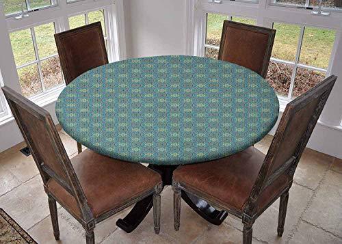 Ronde tafelkleed keuken decoratie, tafelblad met elastische randen, Diameter 60