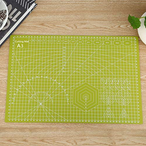 """Cherry Professional Self-Healing Double Sided Rotary Cutting Mat - Long Lasting Thick Non-Slip 9"""" x 12"""" Mat that Provides Easy Cuts for Fabric, Quilting, Sewing, and All Art (Grass Green, A4 (12 x 9))"""