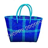 SHOPPY DROPPY Handmade Strong Washable Multipurpose Plastic Wire Grocery Bag, Large,32Lx32Hx10W (Multicolor, ns003)