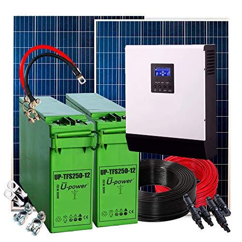 Kit Solar Completos todos 500w 24v Fotovoltaica con 2 bateria de 250AH