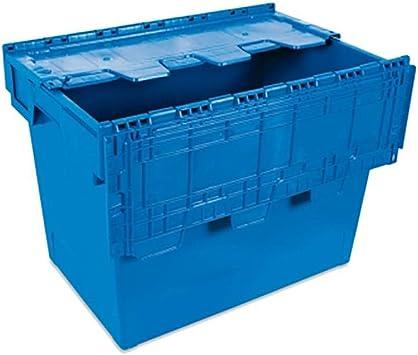 Tayg 6434-T Euro-caja con tapa para almacén y transporte, 600x400x340 mm: Amazon.es: Bricolaje y herramientas