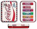 Lip Smacker Coca Cola Geschenkdose: Reiseset mit 6 Lippenpflegestiften in verschiedenen...