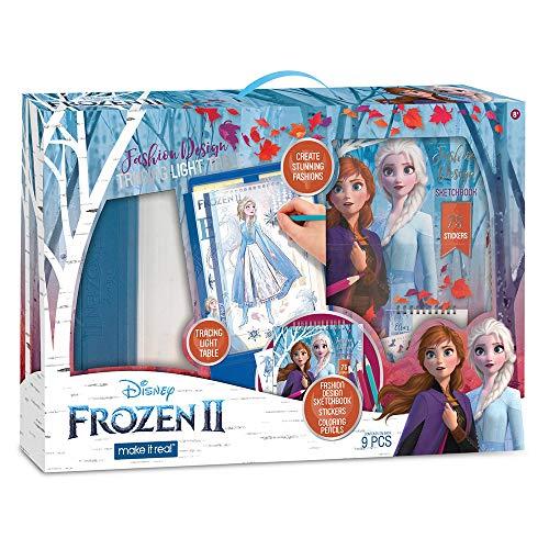 Make It Real 4254 Disney Frozen II-Fashion Design Tracing Light Table