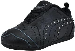 PUMA Shoes Sela Diamond Rhinestone Infant Toddler Black Sneakers