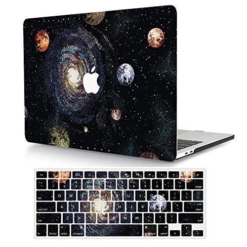 AJYX Funda para MacBook Pro 13 Pulgadas 2020 2019 2018 2017 2016, Plástico Dura Case Carcasa + Tapa del Teclado para Mac Pro 13.3 Modelo: A1706 A1708 A1989 A2159 A2251 A2289 - Planeta