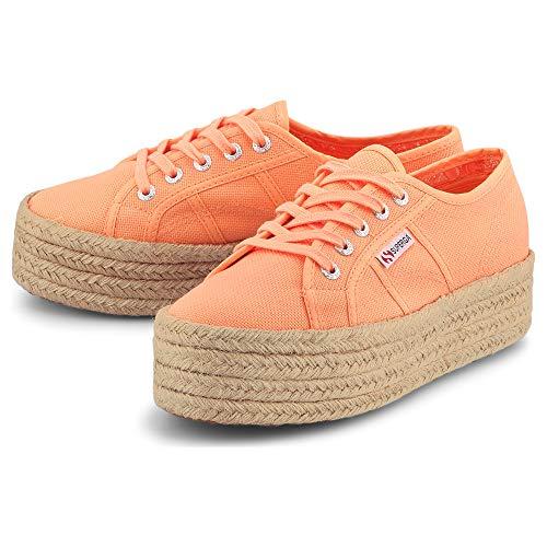 Superga Damen Espadrille-Sneaker 2790 COTROPEW Orange Textil 39