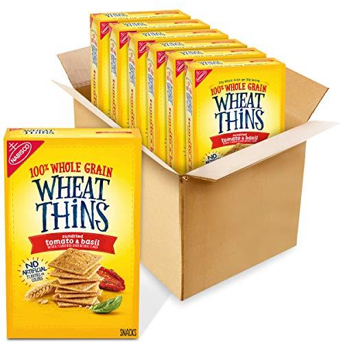 Wheat Thins Whole Grain Crackers 8.5 Oz Boxes 6, Sundried Tomato & Basil, 6 Count -  AmazonUs/MOQ4F