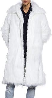 Cappotto Uomo Lungo Pelle Sintetica Primavera Beikoard(Asia Size) Moda Uomo Caldo Cappotto Pesante Soprabito in Pelliccia ...