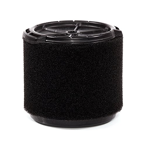 WORKSHOP Wet/Dry Vacs Vacuum Filters WS14045F Foam Filter For Wet/Dry Vacuum Cleaner (Single Wet Application Foam Filter Cartridge) For WORKSHOP 3-Gallon To 4-1/2-Gallon Shop Vacuum Cleaners, Black