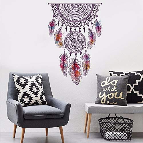 Atrapasueños bohemio estilo indio pluma arte calcomanía cocina sala de estar dormitorio niños habitación telón de fondo decoración DIY pared pegatina Mural