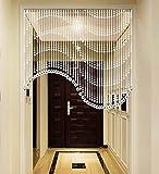 WUFENG Cortinas Vaso De Cristal Cortina De Cuentas Forma De S Cortar Entrada Sala Puede Ser Personalizado Decoración hogar (Tamaño : 1.55m-25articles)
