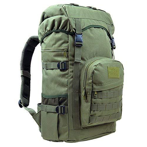 BEI Sac à Dos Outdoor Oxford Sac à Dos d'escalade extérieur, mâle et Femelle général, randonnée pédestre, Sac à Dos Grande capacité 50L, Sac à Dos Tactique Camouflage,50L,E