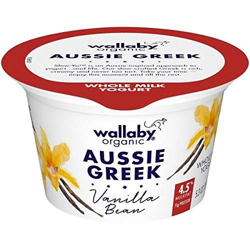 Expect More Wallaby Organic Greek Whole Milk Blended Vanilla Bean Yogurt 5.3 oz pack of 6