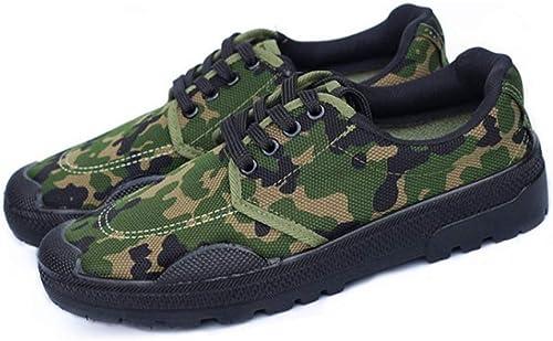 QIAO Chaussures de libération de l'assurance du Travail pour Hommes et Femmes, Chaussures d'entraînement pour l'entraînement en Plein air Militaire, vêtements antidérapants Absorption des Chocs,B,41