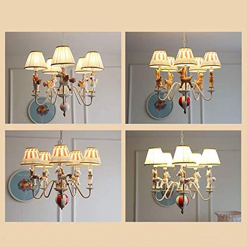 Plafondlamp Kroonluchter Houten Paard Lamp Kinderkamer Kleuterschool Slaapkamer Eenvoudige Creatieve Kroonluchter 67 50Cm