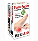 HeelAid Plantar Fasciitis Pain Relief CBD Enriched Brush-On Heel Treatment - Doctor Developed - Clinically Tested - Natural Ingredients Penetrate Deep to Calm Fascia Inflammation.