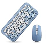 chachacha 2.4G Teclado Inalámbrico Mouse Set Wireless Key Mouse Set Mini Teclado Inalámbrico